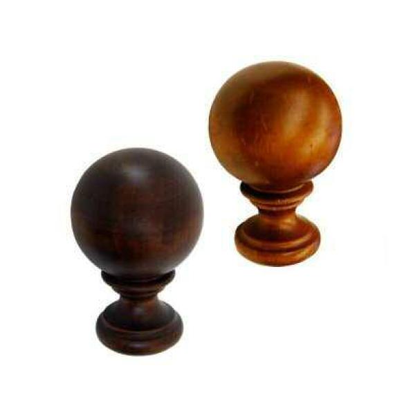 Vintage 2 Quot Diameter Wood Ball Finial Pair Versailles Inc