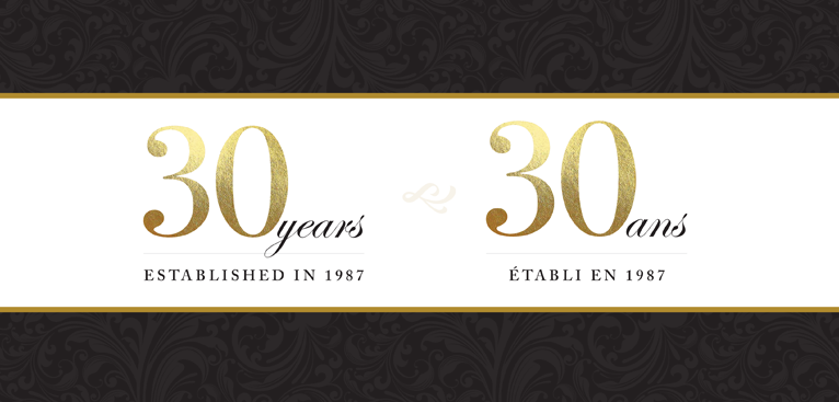 Versailles - 30 Years - Established in 1987 - 30 and - Établi en 1987