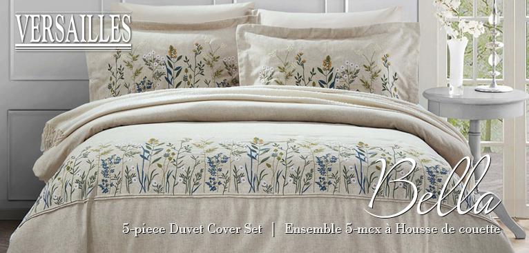 Versailles - Bella - 5-piece Duvet Cover Set | Ensemble 5-mcx à Housse de couette